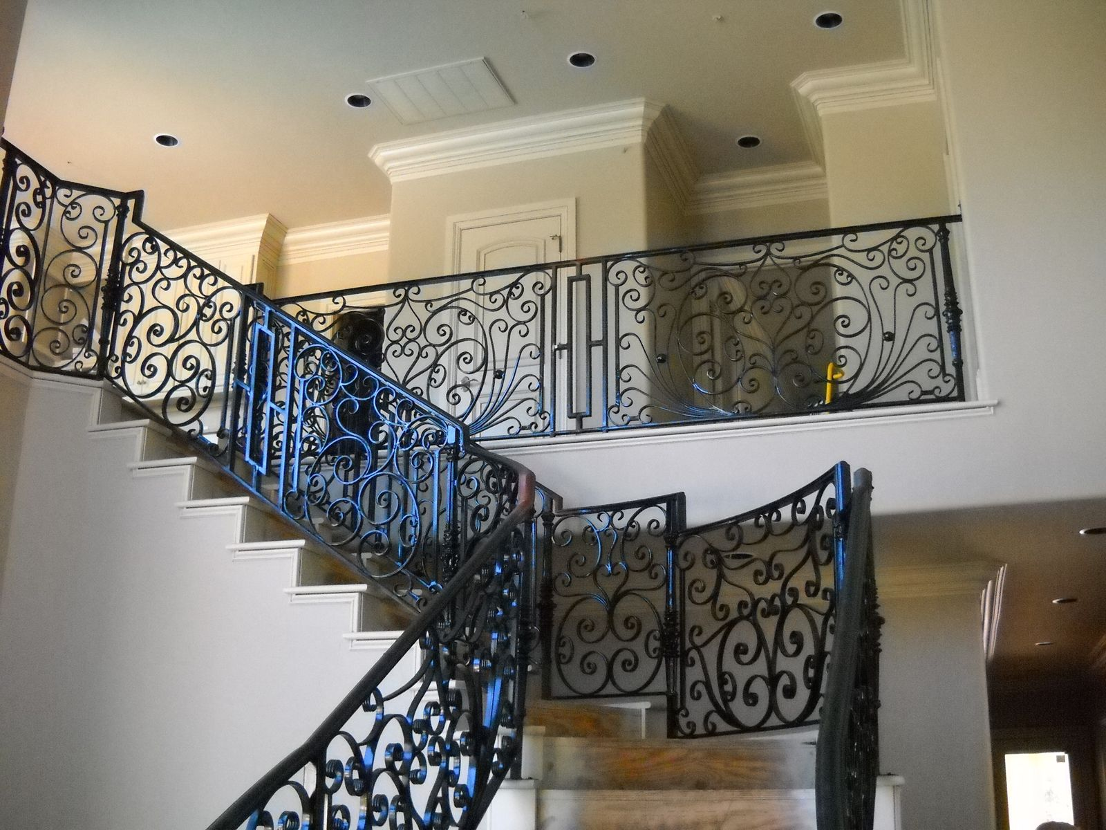 Custom Stair Railing Handmade Stair Railing By Old World Iron Custommadecom