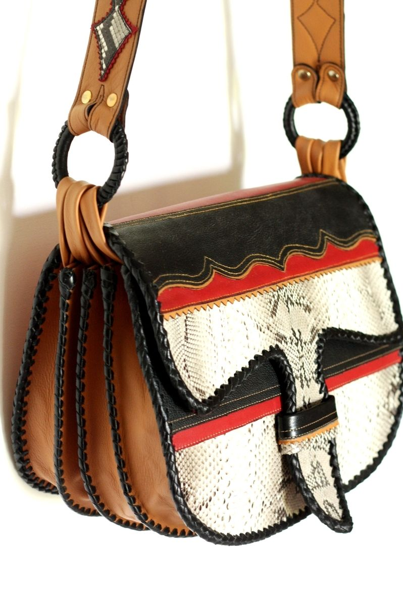 Hand Crafted Paisa Carriel A Classic Leather Handbag In An Exotic Colorway By Yolu Custommade