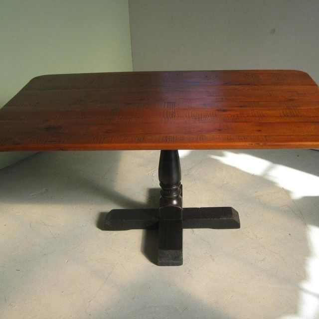 Custom Square Pedestal Base Dining Table With Drop Leaf Sides By Ecustomfinishes Reclaimed Wood Furniture Custommade