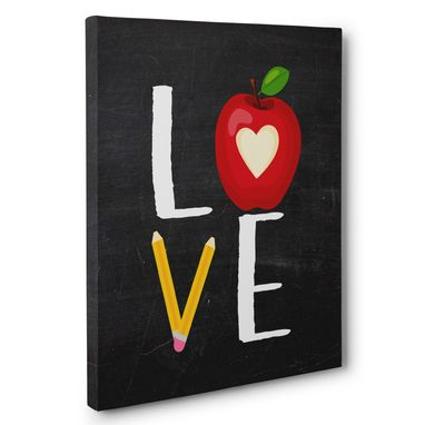 Custom Made School Love Chalkboard Canvas Wall Art