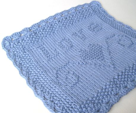 Custom Made Luxury Knit Hand Towel - Love Embossed Design