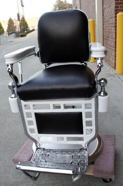 Custom Made Restored Theo A. Kochs Barber Chair