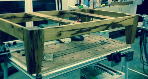 Custom Made Elevated Dog Crate Platform