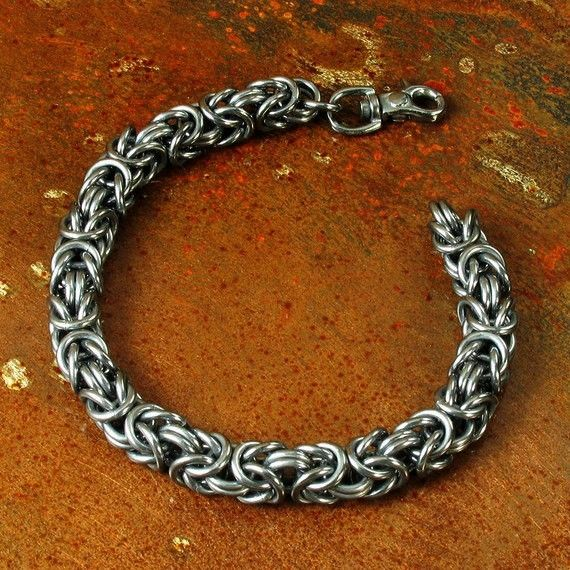 Make A Chain Mail Bracelet: Buy A Handmade Men's Byzantine Chainmail Bracelet, Made To