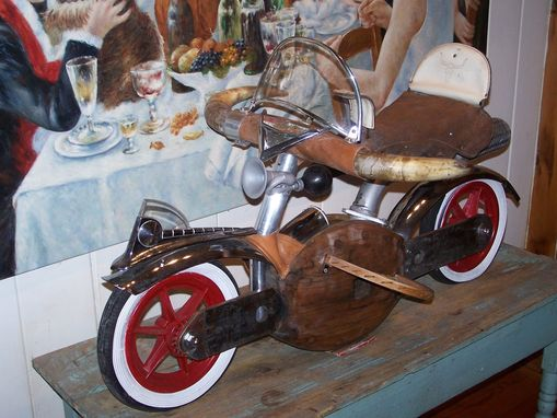 "Custom Made ""Safari Bike"" Sculpture"