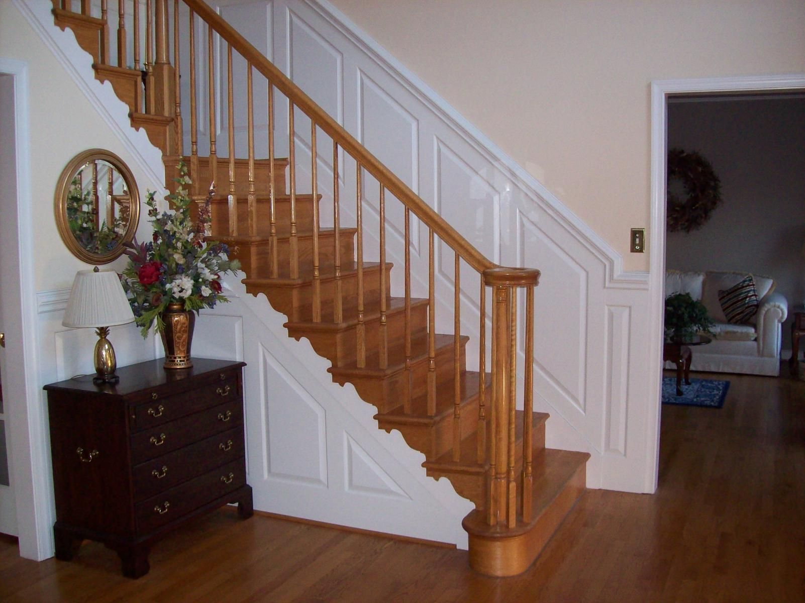 Custom made stair wainscot by sdg home solutions for Custom stair