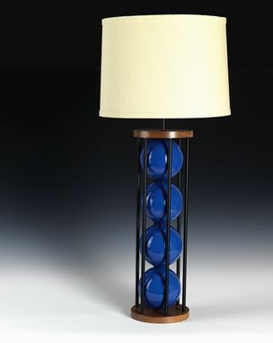Custom Made Steel 6 Table Lamp