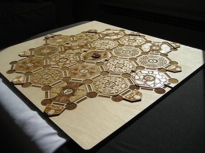 Custom Made Laser Cut Settlers Of Catan Board