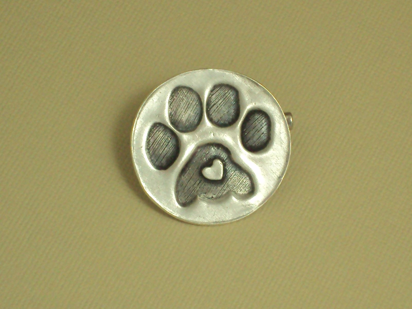 necklace jared ct pin diamond silver paw round sterling print pawprint cut tw