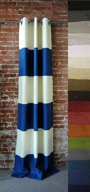 Custom Made Grommeted Striped Drapery Panel