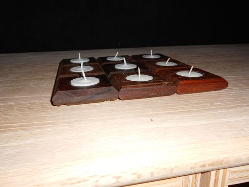 Custom Made Brazilian Walnut (Ipe) Tea Light Candle Holders.  2 7/8 X 2 7/8 X ¾.  (32 Available)