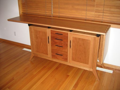 Custom Made Cherry Buffet Cabinet