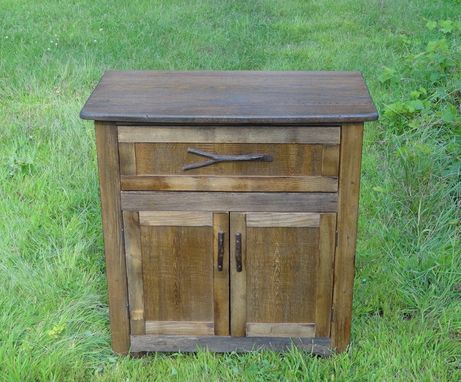 Custom Made Reclaimed Chestnut Cabinet