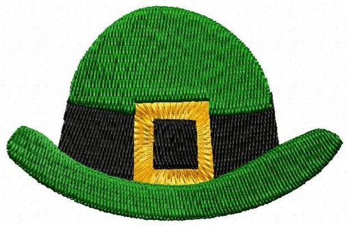 Custom Made Irish Hat Embroidery Design