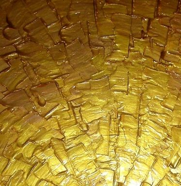 Custom Made Original Abstract Gold Painting, Palette Knife Art, Original Bronze Metallic, Textured Palette Knife