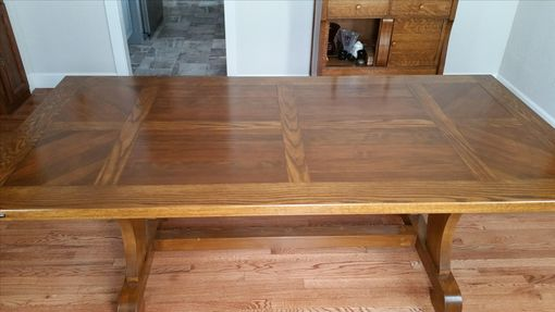 Custom Made Trestle Style Dining Table