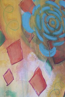 "Custom Made Original Acrylic Painting, Abstract Art (10x30) ""Fly A Kite At Night"""