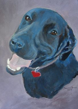 Custom Made Mia--Black Lab Custom Dog Pet Portrait