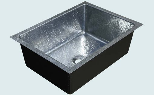 Custom Made Zinc Sink With Hammering & Semigloss Finish