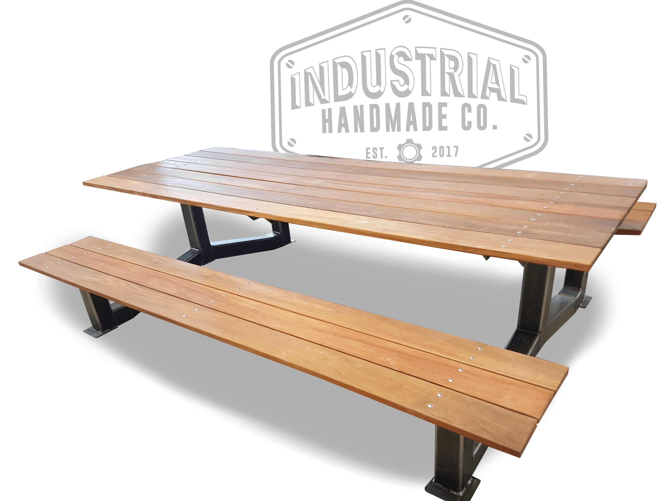Hand Made Nashville Large Industrial Outdoor Picnic Table By - Large outdoor picnic table
