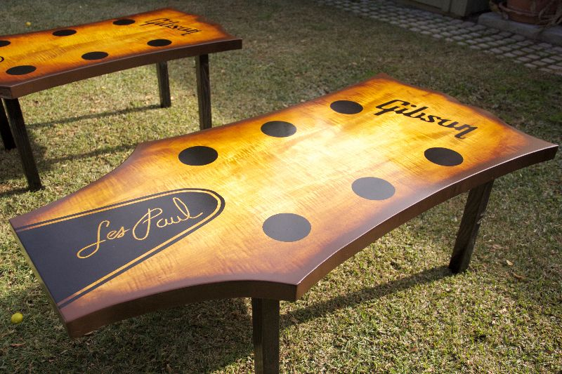 hand crafted guitar headstock coffee table by heartsong woodwork. Black Bedroom Furniture Sets. Home Design Ideas