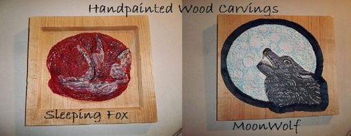 Custom Made Handpainted Wood Carvings