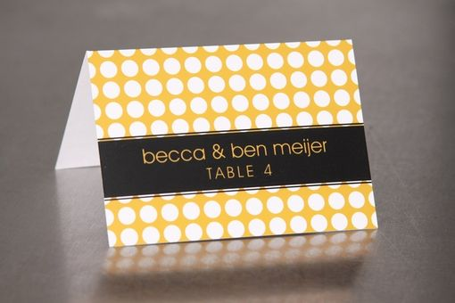 Custom Made Wedding Place Cards - Modern Circles - Escort Cards Custom Designed