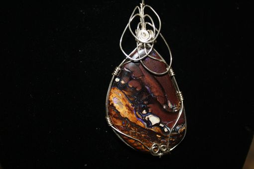 Custom Made 54.20ct Beautiful Pattern Picture Quality Koroit Boulder Opal Necklace