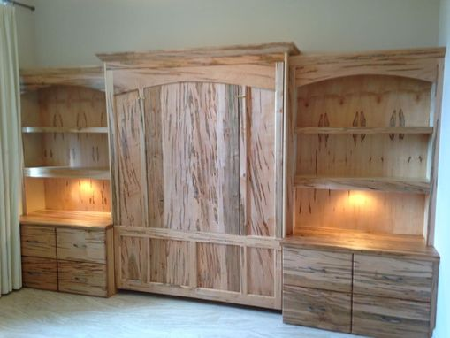 Custom Made Stunning Home Office Murphy Bed