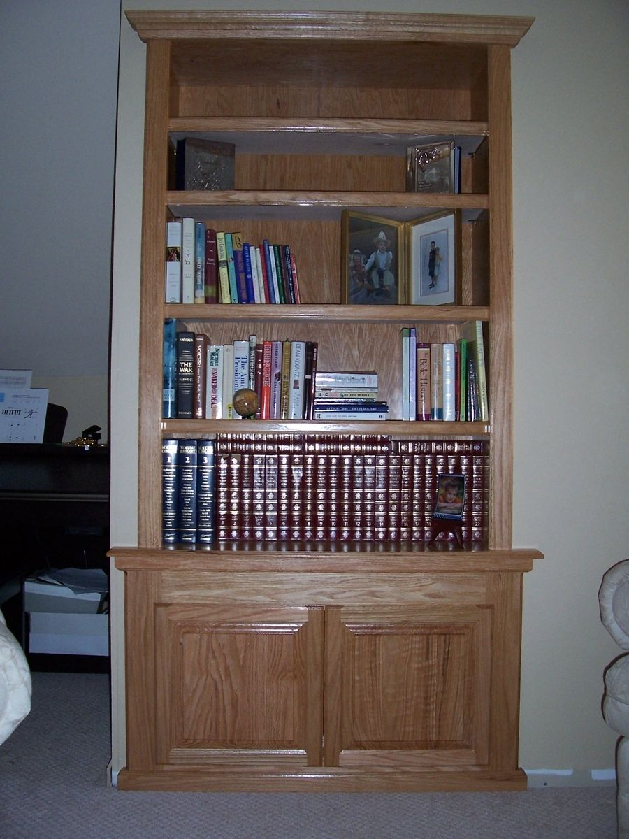 Hand Made Built In Bookcase By Wood U Create