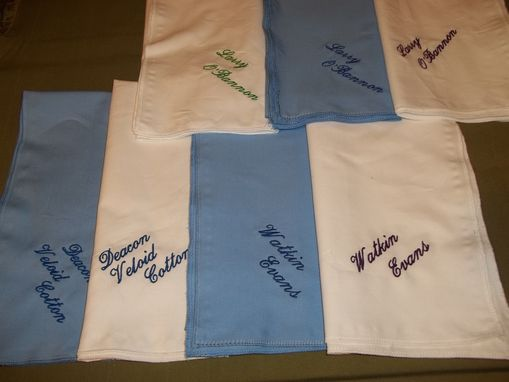 Custom Made Monogrammed Hankerchiefs With Full Name And Title