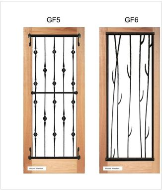 Custom Made Iron Door Grilles