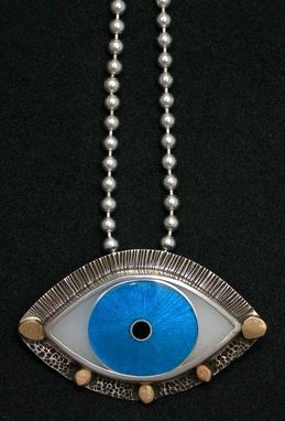 Custom Made Designer Evil Eye Pendant - Blue