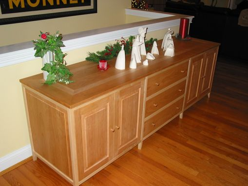 Custom Made Cherry/Curly Maple Buffet