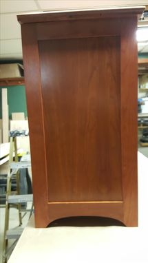 Custom Made Cherry Storage Cabinet