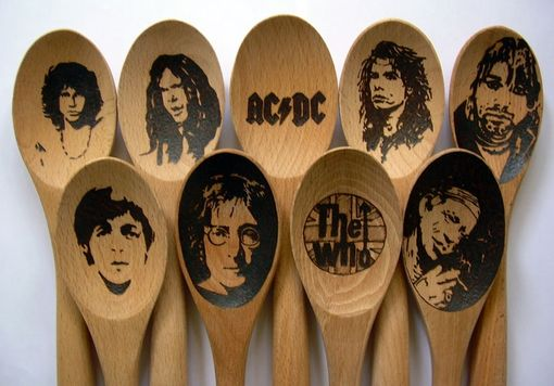 Custom Made Celebrity Wooden Spoon