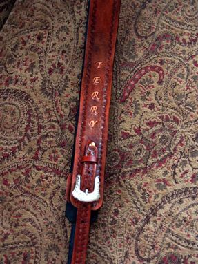 Custom Made Leather Custom Design Dobro Strap