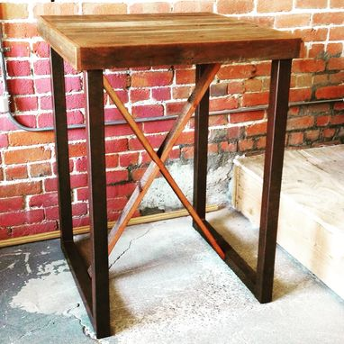 Custom Made Reclaimed Wood Pub Height Bar Table - Any Length