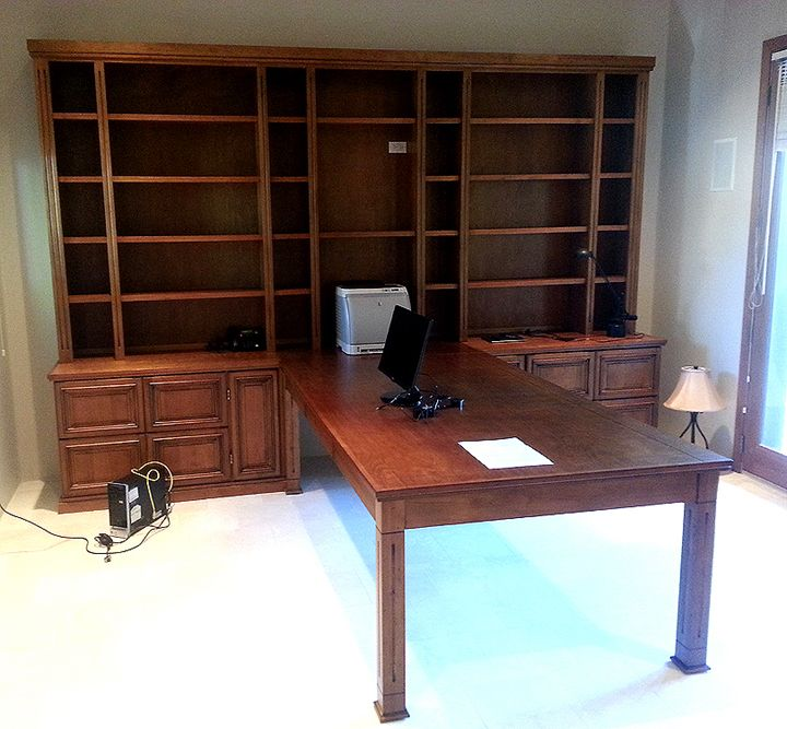 Hand Crafted Custom Designed Wood Home Office Furniture By