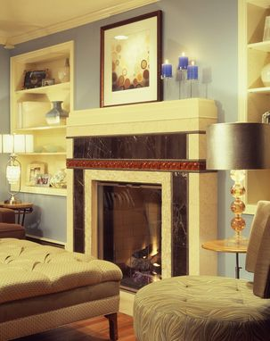 Custom Made Fireplace & Built-In Shelves