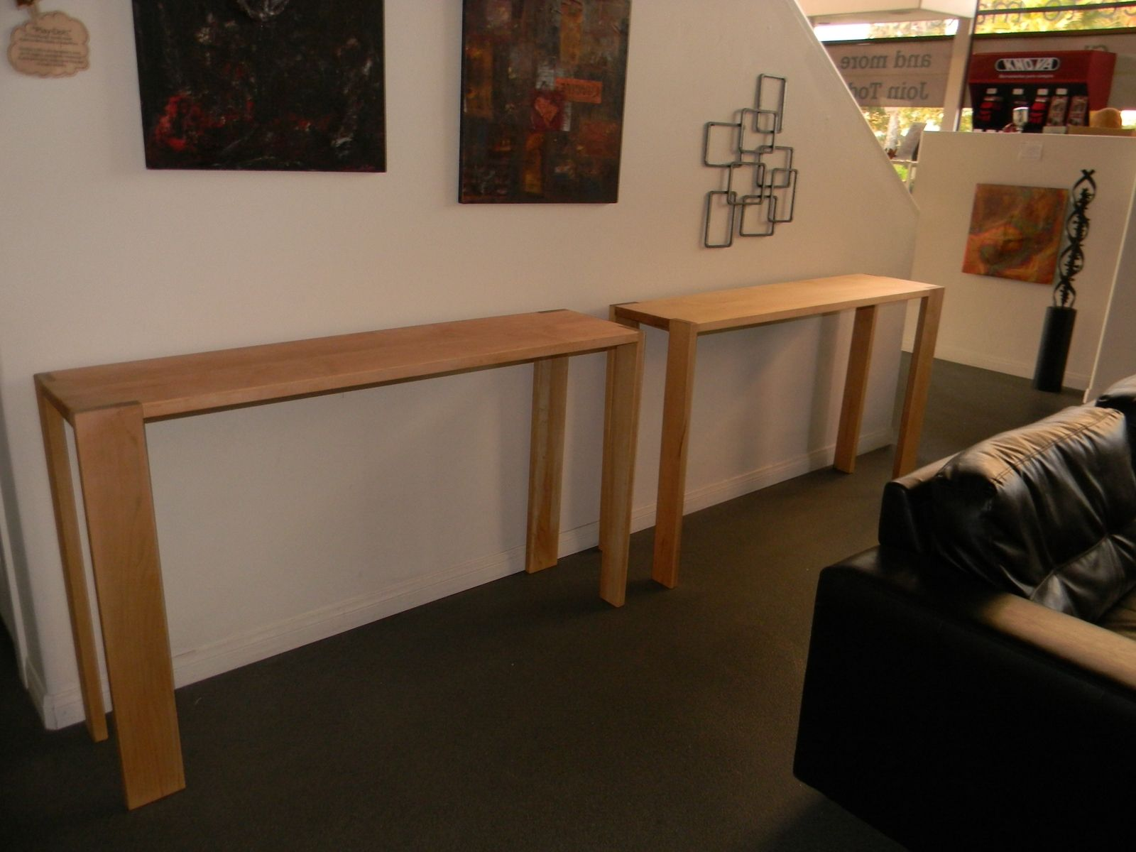 Custom Made Michael S Counter Height Narrow Soft Maple Tables