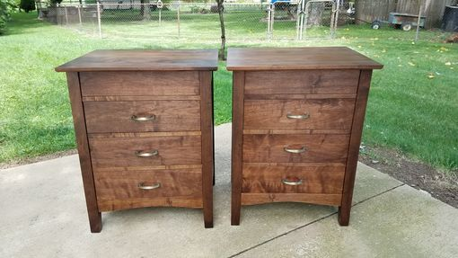 Custom Made Walnut Bedside Tables