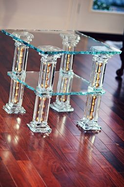 Custom Made Glass End Tables