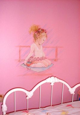 Custom Made Young Ballerina Girl's Room Mural