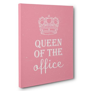 Custom Made Queen Of The Office Canvas Wall Art