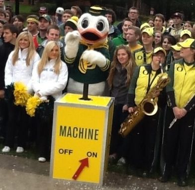 "Custom Made ""Snow Machine"" Prop Fo Oregon Ducks Holiday Video."