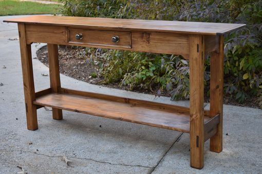Custom Made Rustic Sofa Table