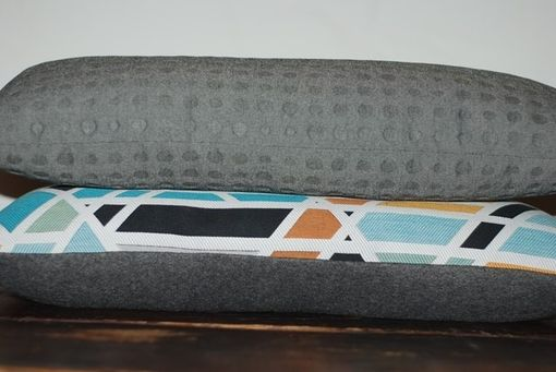 Custom Made 25x10 Grey Maharam Bolster Pillow Cover - Grey Designer Pillow Cover