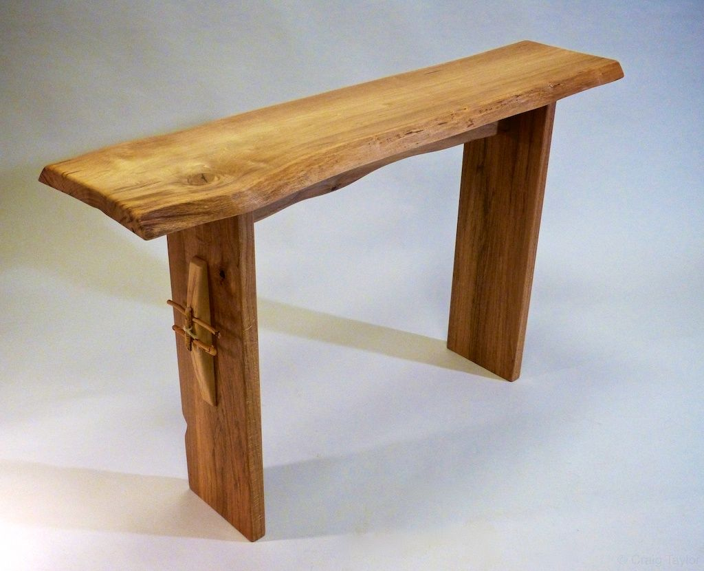 Hand Crafted Contemporary Rustic Entry Table By Craig Taylor Design Custommade Com