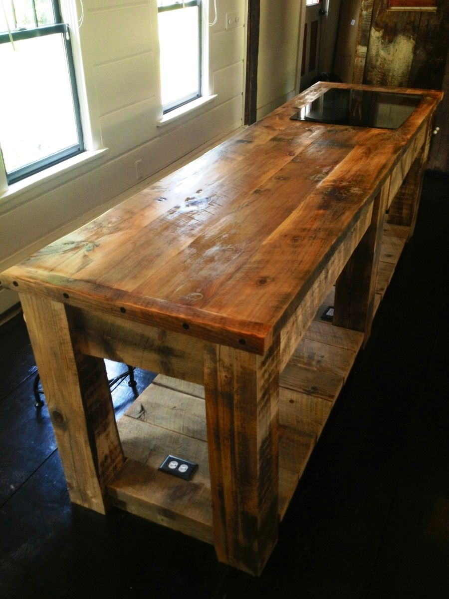 Hand Crafted Rustic Kitchen Island By E B Mann